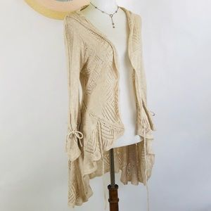 Anthro Sparrow open knit cardigan size S